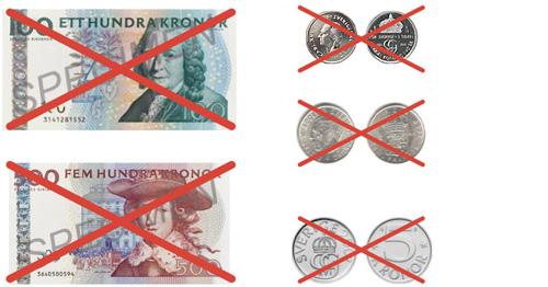 växla till nya sedlar